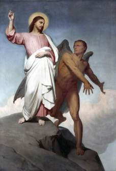 Scheffer, Ary, 1795-1858; The Temptation of Christ
